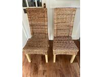 Kitchen Dining Chairs - Rattan Wicker