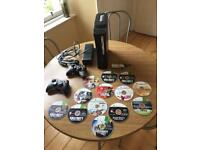 Xbox 360 With 2 Wireless Controllers, Wireless Adapter and 12 Games