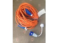 Electric hookup for campervan/motorhome approx 30 yards plus hookup adaptor