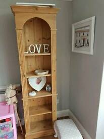 Pine shelf unit/ book shelf
