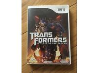 Nintendo wii game transformers revenge of the fallen