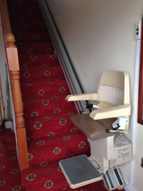 Stannah Stair Lift - Right Mount * Free Delivery * Excellent - Safety switches - Folding - Stairlift