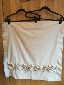 Next Gold Ruffle Square Pillowcase, Brand New, RRP £10, Free P&P