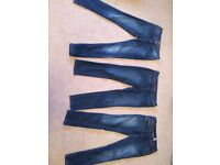 3 pairs of ladies jeans size 10