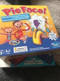 Board games pie face & hangman