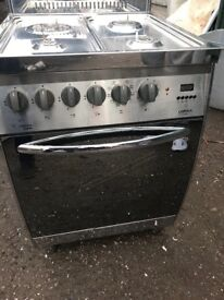 Gas cooker 60cm single electric oven free delivery