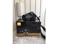 Nikon D90 Camera 18-105 VR Kit + EXTRAS