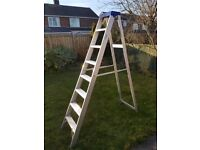 large Clow industrial aluminium step ladder - class 1 - 130 kg rated