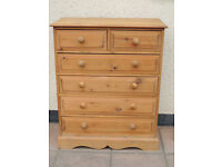 Tallboy Welsh Pine heavy duty chest of drawers with dovetail joints (Delivery)