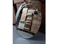 brand new large oval mirror