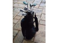 Set of Golf Clubs with Bag and Trolley.