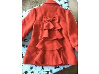 Stunning red coat size 2-3