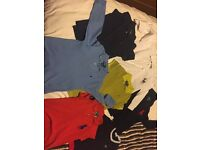 Ralph Lauren and Lacoste good condition clothes sizes vary aswell as prices