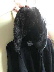 Two Next fur hooded shawls, capes rrp £30 each
