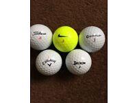 100 grade A lake balls .calloway , srixon , titleist , taylormade , etc