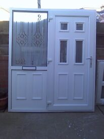 upvc door and frame hight 79 inchslength66 inchs with keys ready to use 75 pound