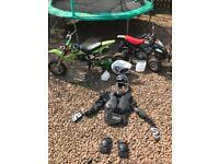 50cc quad and bike with accessories. for sale  Sighthill, Edinburgh