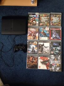 Playstation 3 and 11 games PS3 250gb