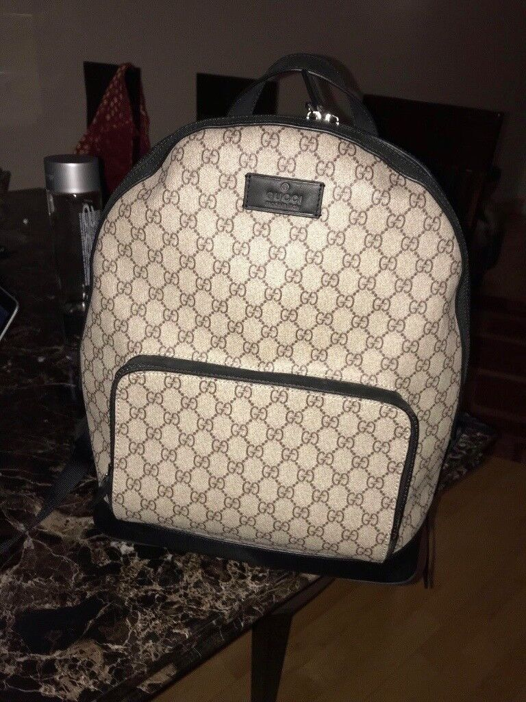 2d5a28d74c23bc Gucci GG Supreme Backpack Mens - RRP £885 - Original Used - Excellent  condition