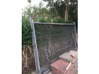Heras style metal fence panels