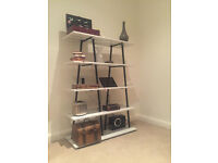 White habitat bookshelf / bookcases - white lacquer 5-shelves