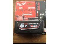Milwaukee cordless battery