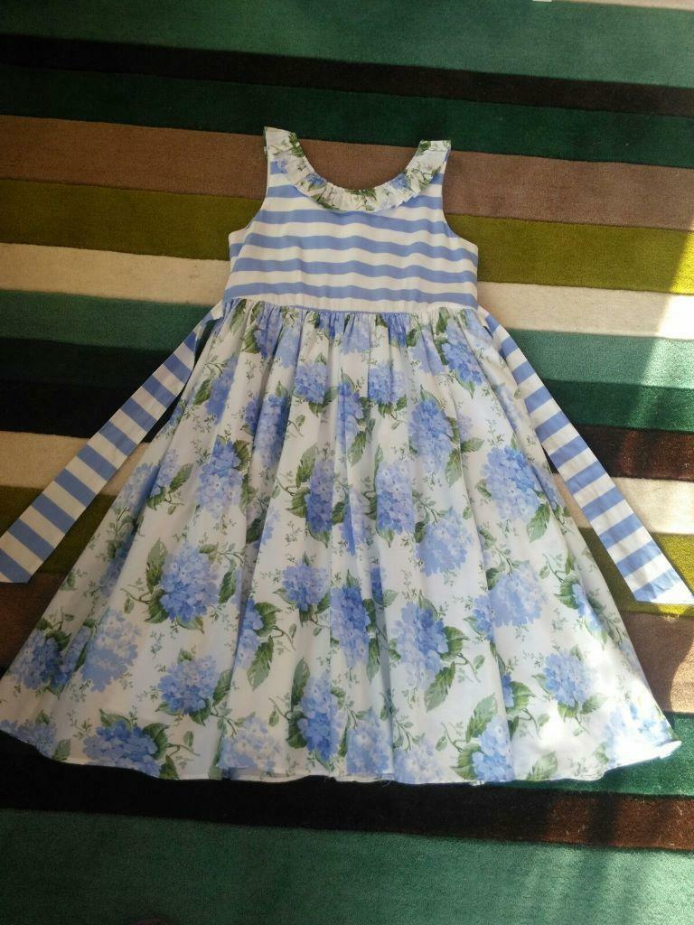 Girls dress monsoon blue and white flower dress age 12 13 years girls dress monsoon blue and white flower dress age 12 13 years old izmirmasajfo