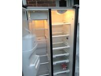 Whirlpool Silver American fridge freezer....Cheap Free Delivery