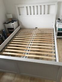Double Bed (Hemnes, White - Ikea) Used but excellent condition RRP £175