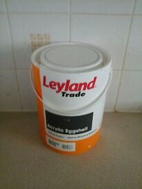 Leyland White Acrylic Eggshell Paint 5litres