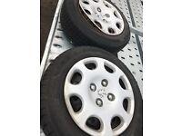 Peugeot 206 steel wheels with very good tyres plenty tread left