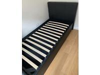 Ottoman single bed + mattress
