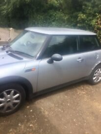 BMW Mini one 1.6 cooper silver PARTS ONLY