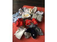 26 Item bundle of baby boy clothing 0-3 Months