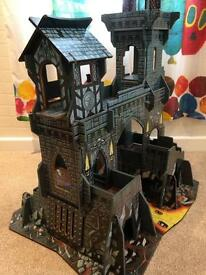 Early learning Centre wooden tower of doom playset Castle with drawbridge toy