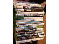 x box 360 with accessories and games