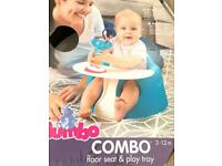 Brand new bumbo chair and play tray!!