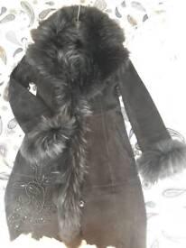Womens sheepskin coat size Small