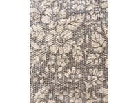 Beautiful grey and white rug