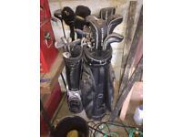 X2 sets of golf club