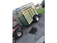 Farming trailer fully restored easy towed not car tractor horse box sheep
