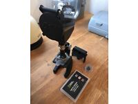National Geographic microscope with slides and extra lense