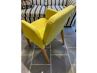IKEA Ekard upholstered dining chair with slipcover