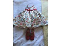 Monsoon dress & start-rite shoes 11 1/2. Boys Next shoes size 13 princess dress age 6 yrs