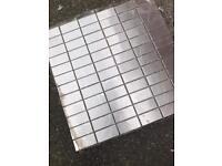 Metal wall tiles