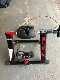 Elite Volare Mag remotely adjustable turbo trainer and front wheel stand