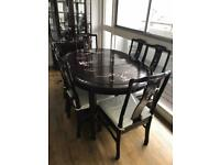Chinese dining table and 6 chairs