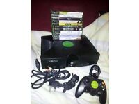 Original xbox and 11 games in working order