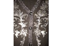 black bling cardigan