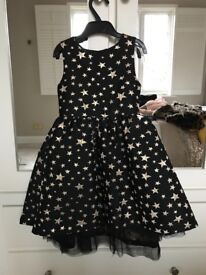 Black with gold stars girls party dress age 5